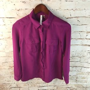 NY Collection Button Down Shirt